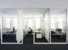 Internal glazed partitions