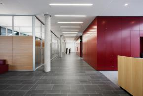 Aluminium framed glazed partitions