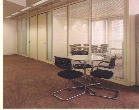 Glass partition system